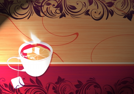 Abstract Cup of tea object background with space photo