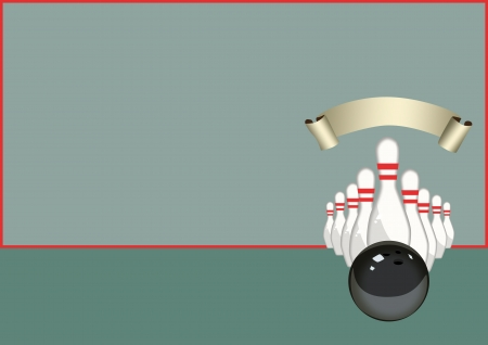 Abstract color Bowling sport background with space photo