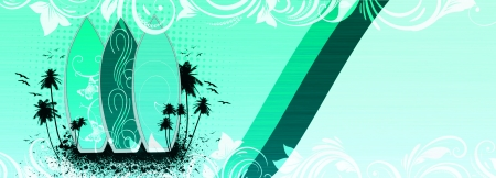 Abstract grnge Surf summer background with space photo