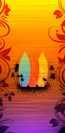Abstract grnge Surf summer background with space Stock Photo