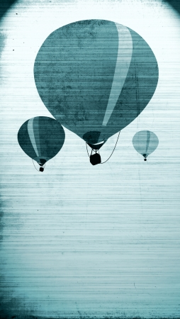 Abstract grunge Hot air ballon background with space photo