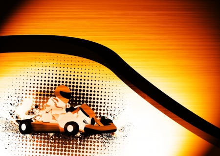 go kart: Abstract grunge color Gocart background with space
