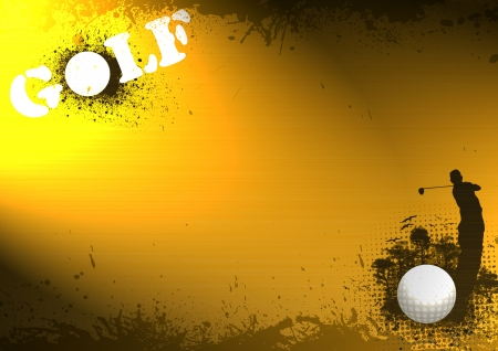 Color abstract grunge golf background with space Stock Photo - 14437819