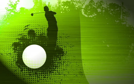 play golf: Color abstract grunge golf background with space Stock Photo