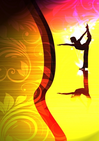 lyrical dance: Abstract color yoga or ballet background with space