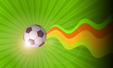 dynamic activity: Color abstract Soccer ball background with space