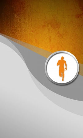 orienteering: Abstract color Running sport background with space Stock Photo