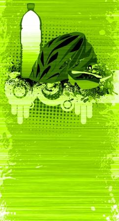 bicycle helmet: Abstract grunge Bike accessories background with space