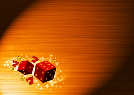 Abstract color lucky dice background with space  photo