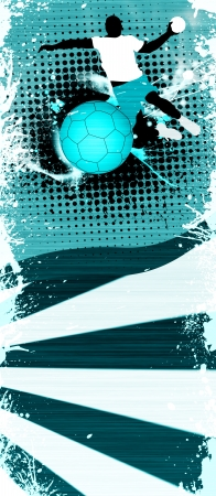 Abstract grunge Handball shot background with space Stock Photo - 14580060
