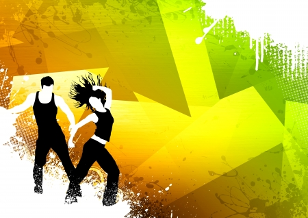 Abstract color zumba fitness dance background with space Stock Photo - 14659985