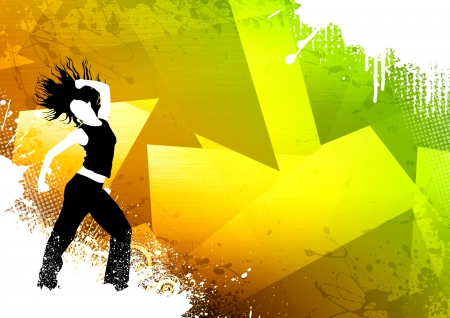 dance teacher: Abstract color zumba fitness dance background with space Stock Photo