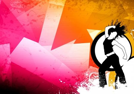 Abstrakte Farb-Zumba Fitness Tanz Hintergrund mit Raum Standard-Bild