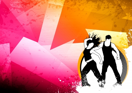 Abstract color zumba fitness dance background with space Stock Photo - 14659982