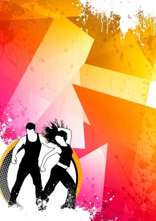 zumba: Color de fondo abstracto Zumba Fitness baile con el espacio Foto de archivo
