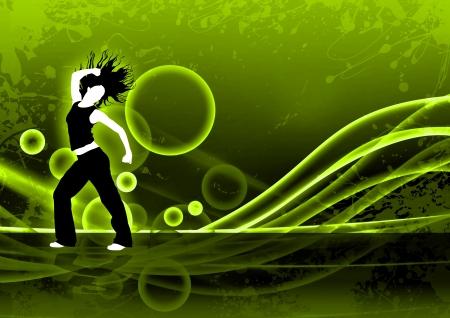 baile latino: Resumen de color de fondo de danza Zumba Fitness con el espacio Foto de archivo
