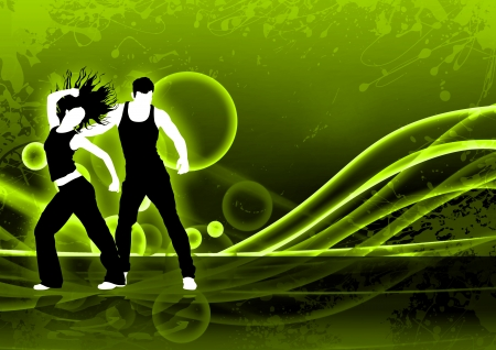 fitness instructor: Abstract color zumba fitness dance background with space Stock Photo