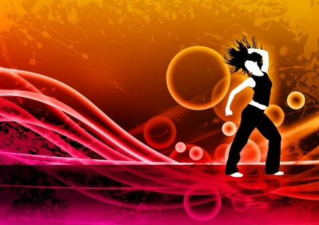 abstract dance: Abstract color zumba fitness dance background with space Stock Photo