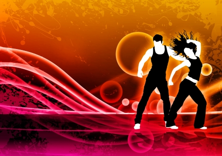 Abstract color zumba fitness dance background with space Stock Photo - 14659978