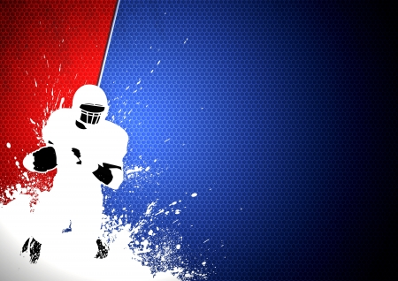 football helmet: Abstract grunge american football background with space