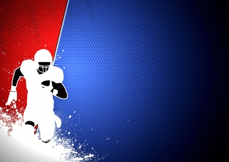 football kick: Abstract grunge american football background with space