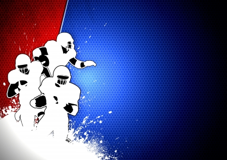 teammate: Abstract grunge american football background with space