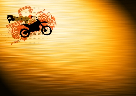 Abstract grunge Motorcycle and the rider background with space photo