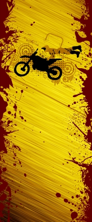 enduro: Abstract grunge Motorcycle and the rider background with space Stock Photo