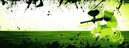 Abstract grunge color paintball background withs space
