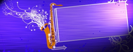 Abstrat color Saxophone music background with space photo