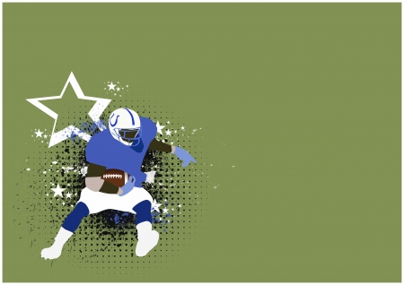 teammate: Abstract color american football background with space