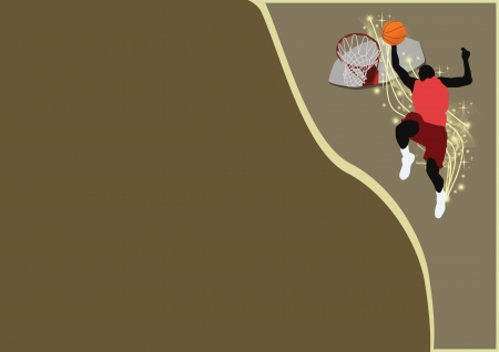 Abstract color Basketball sport background with space photo