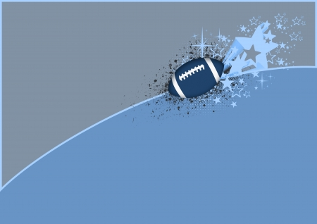 Abstract color american football background with space photo
