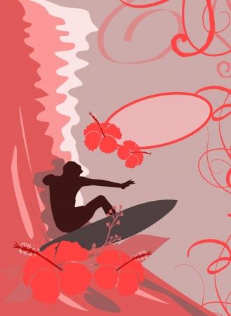 windsurf: Resumen olas de color deporte fondo con el espacio