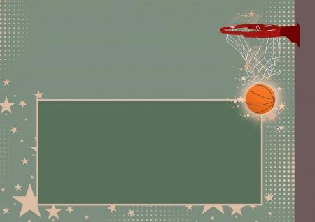 R�sum� anneau de basket-ball couleur et le fond de l'espace photo
