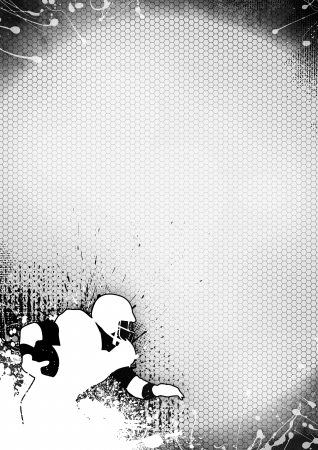grayscale: Abstract grayscale american football background with space Stock Photo