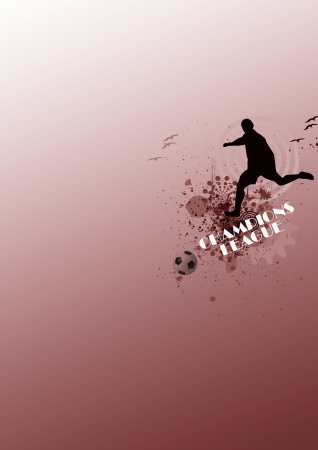Abstract grunge  soccer background with space Stock Photo - 14983339
