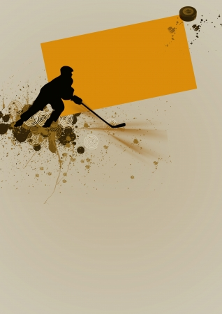 Abstract grunge hockey background with space photo