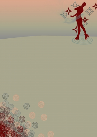 Abstract Figure Skating Background with space photo