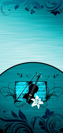 fiddlestick: Abstract color violin music bacground with space Stock Photo