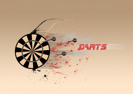 Abstract color darts poster background with space photo