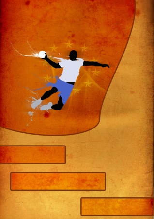 Abstract handball shot poster background with space photo