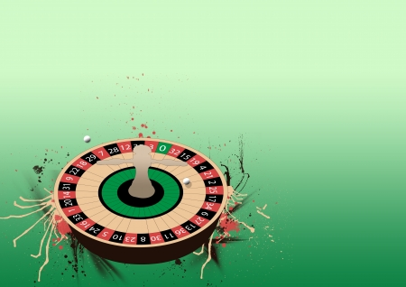 Abstract Roulette wheel poster background with space photo