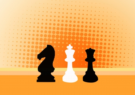 chessmen: Abstract color chess poster background with space Stock Photo