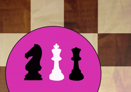 Abstract color chess poster background with space photo