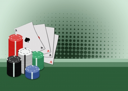 Abstract poker card and chips background with space Stock Photo - 15022598