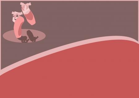 ballet clásico: Color de ballet zapatos pointes fondo con el espacio
