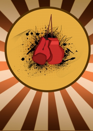 fight arena: Abstract color boxing loves background with space