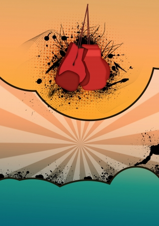 Abstract color boxing loves background with space photo