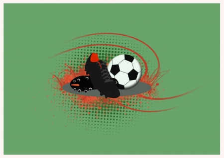 Soccer shoe and ball background with space Stock Photo - 15162204